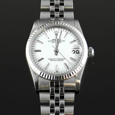 Silver Rolex Date 6518 Watch