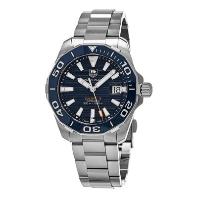 Blue and Silver TAG Heur Watch