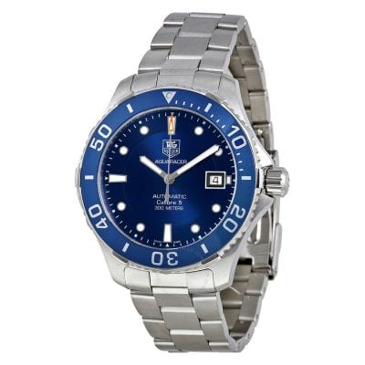 Blue and Silver Breitling Watch