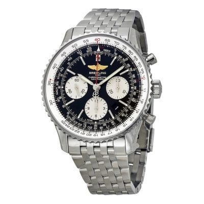 Silver Breitling Watch