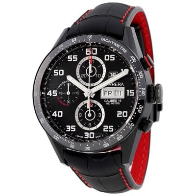 Red and Black Breitling Watch