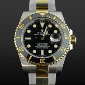 Silver and Black Rolex Watch