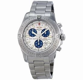 Breitling Super Avenger Blue Dial Mens Watch